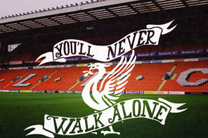 Hand Lettered Liverpool FC Picture