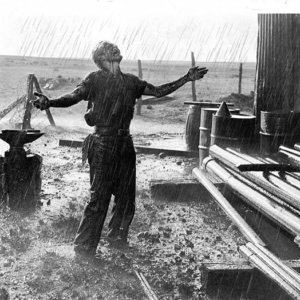 James Dean in Giant Oil Gusher